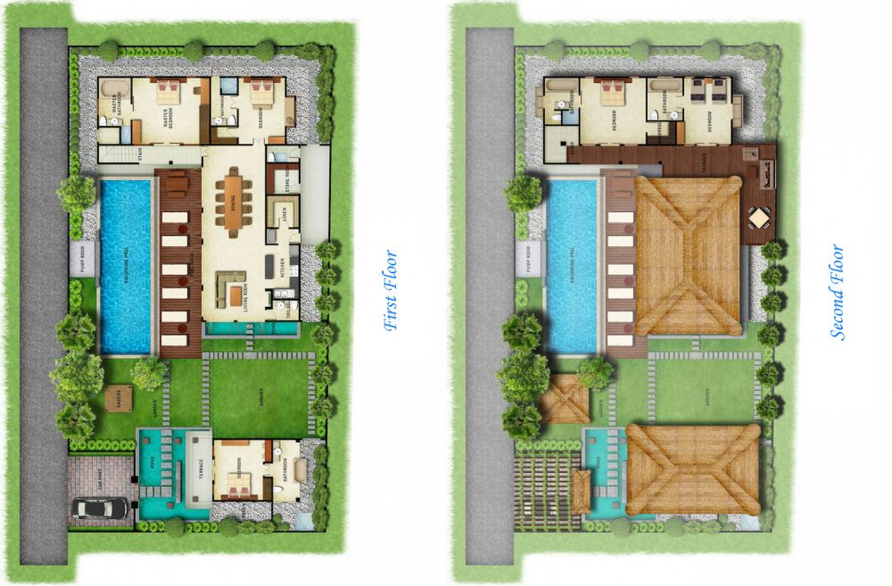 Bali villa design floor plan Bali house designs floor plans