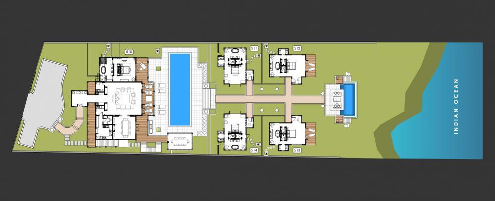 Floorplan Villa BUKIT 514T